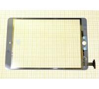 iPad mini/ iPad mini 2 (Retina) - тачскрин, сенсорное стекло (белый) на пайке