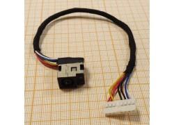 Разъем питания HP G62 Series (с кабелем) (1-й тип)