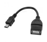 OTG переходник Mini USB ( 10 см) OTG-кабель для телефоновс легкостью позволит подключить к вашему аппарату USB-флешки, карт-ридеры для обмена информацией и просмотра документов, изображений, видео, прослушивания музыки.