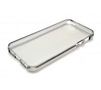 Силиконовая накладка iPhone 5/5S/5SE плотная глянцевая тонированная