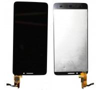 Alcatel OT 6040 Idol X - дисплей в сборе с тачскрином (черный)