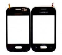 Samsung G110h Galaxy Pocket - тачскрин, сенсорное стекло (черный)