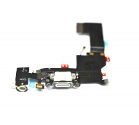 iPhone 5 - шлейф с разъемом зарядки + разъем гарнитуры + микрофон (на белый) HQ