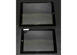 iPad 2 - тачскрин, сенсорное стекло + кнопка Home + скотч (черный)