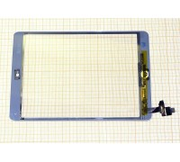 iPad mini/ iPad mini 2 (Retina) - тачскрин, сенсорное стекло (белый) с коннектором