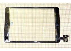 iPad mini/ iPad mini 2 (Retina) - тачскрин, сенсорное стекло (черный) с коннектором