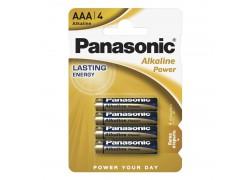 Батарея щелочная Panasonic LR03 BL4/ААА упаковка блистер цена за 4 шт
