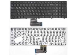 Клавиатура для ноутбука DNS Pegatron C15 Series. Г-образный Enter. Черная с рамкой