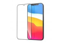 Защитное стекло дисплея iPhone 13 / iPhone 13 Pro (6.1) с полным покрытием черное без упаковки
