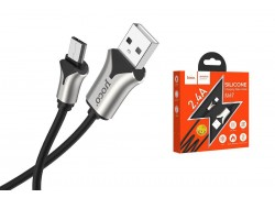 Кабель USB micro USB HOCO U67 Soft silicone charging data cable (черный) 1 метр