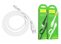 Кабель USB micro USB HOCO X40 Noah charging data cable  1 метр белый