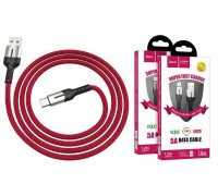 Кабель USB HOCO U68 5A Gusto flash charging data cable Type-C (красный) 1 метр