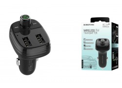 USB MP3 плеер +FM трансмиттер с диспл.BOROFONE BC16 MiniRock In-car Wireless FM Transmitter