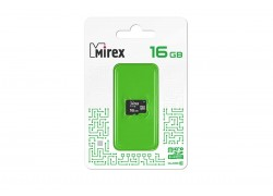 Карта памяти microSDHC MIREX 16GB (UHS-I, U1, class 10) без адаптера