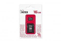 Карта памяти microSDHC MIREX 16 GB UHS-I U1 (class 10) с адаптером