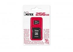 Карта памяти microSDХC MIREX 256 GB UHS-I U3 (class 10) с адаптером