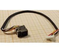 Разъем питания HP G62 Series (с кабелем) (2-й тип)