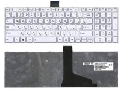 Клавиатура для ноутбука Toshiba Satellite L850 белая с рамкой