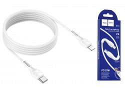 HOCO X55 Trendy PD charging data cable for Type-C to Lightning 1м белый