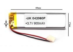 Аккумулятор универсальный 60x17x4 3.7V 900mAh (042060P)