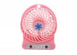Вентилятор настольный LV-05, 3 скорости, 800 mAh, шнур микро, цвет СВЕТЛО-РОЗОВЫЙ