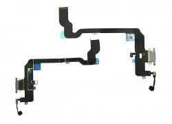 Шлейф для iPhone XS с разъемом зарядки (серый) HQ