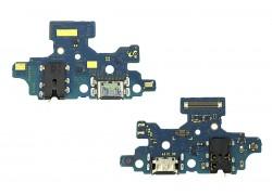 Шлейф для Samsung A415F Galaxy A41 с разъемом зарядки + разъем гарнитуры (плата) HQ