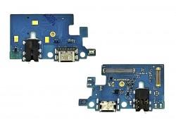 Шлейф для Samsung M317F Galaxy M31s с разъемом зарядки + разъем гарнитуры (плата) HQ