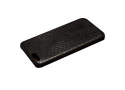Кожаная накладка Iphone 6 (5.5) под крокодила цвет черный