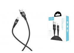 Кабель для iPhone HOCO HOCO U46 Tricyclic silicone lightning charging cable 1м черный