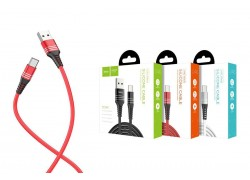 Кабель USB HOCO U46 Tricyclic silicone type-c charging cable (красный) 1 метр