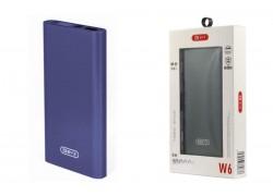 Универсальный дополнительный аккумулятор BYZ Power Bank W6 металлик синий (10000 mAh)