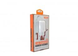 Сетевое зарядное устройство USB 2400mAh + кабель iPhone 5/6/7 MOXOM KH-66 в упаковке