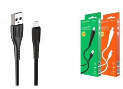 Кабель USB - MicroUSB BOROFONE BX37 2,4A черный 1м