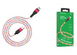 Кабель USB BOROFONE BU19 Streamer charging data cable for Type-C (красный) 1 метр