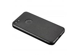 Чехол-накладка силиконовый для Apple iPhone 7 Plus под кожу Black