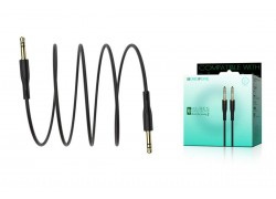 Кабель удлинитель BOROFONE BL1 AUX Audio cable 3.5 1 метр черный