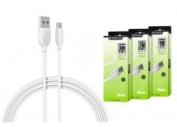 Кабель USB micro USB BOROFONE BX14 LinkJet (белый) 1 метр