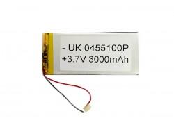 Аккумулятор универсальный 107x48x4 3.7V 3000mAh (0455100P)