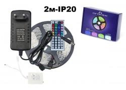 Набор LED лента мультицвет Огонек OG-LDL12 SMD (2м,IP20,блок,пульт)