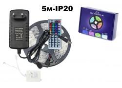 Набор LED лента мультицвет Огонек OG-LDL14 SMD (5м,IP20,блок,пульт)