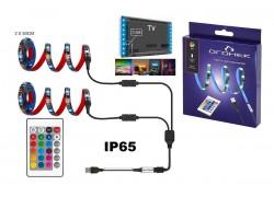 Лента светодиодная Огонек OG-LDL17 RGB 2*0.5м (USB)