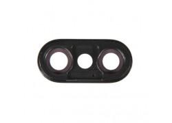 Стекло камеры для iPhone X (черный)
