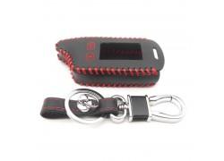 Чехол кожаный для брелка автосигнализации Tomahawk tw9020 черный