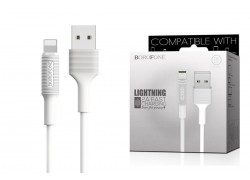 Кабель для iPhone BOROFONE BX1 EzSync lightning USB cable 1м белый