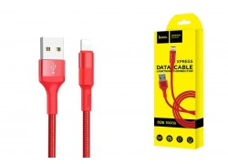 Кабель для iPhone HOCO X26 Xpress charging data cable for Lightning 1м красный