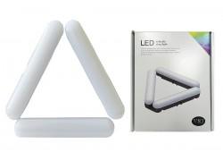 Кольцевая лампа напольная (20 см складная 3х секционная) V83 для фото и видеосъемки черная (без треноги)