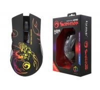 Мышь игровая проводная MARVO M209,  6 кн,  000-6400dpi, USB,  чёрный
