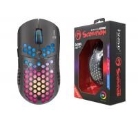 Мышь игровая проводная MARVO M399,  6 кн, 800-6400dpi, USB,  чёрный
