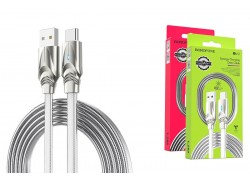 Кабель USB BOROFONE BU12 Synergy charging data cable for Type-C (серый) 1 метр